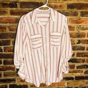 ♦️Women's large express striped button down tunic